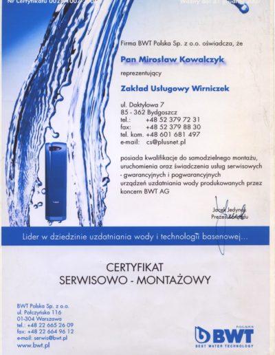 Certyfikat Pompy Ciepła Bydgoszcz Serwis
